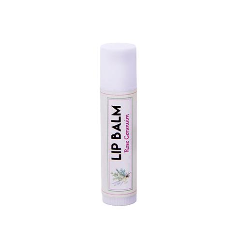 שפתון טבעי לשפתיים יבשות רוז גרניום